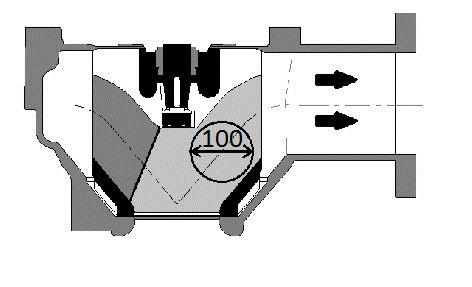 Pompa do ścieków przepływ przez kanał 100mm