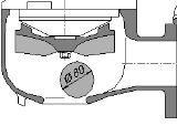 Pompa do ścieków swobodny przepływ 50mm
