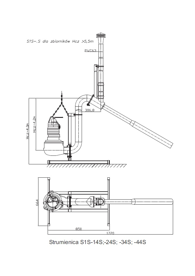 Aeration waterjet S1S-S standing version